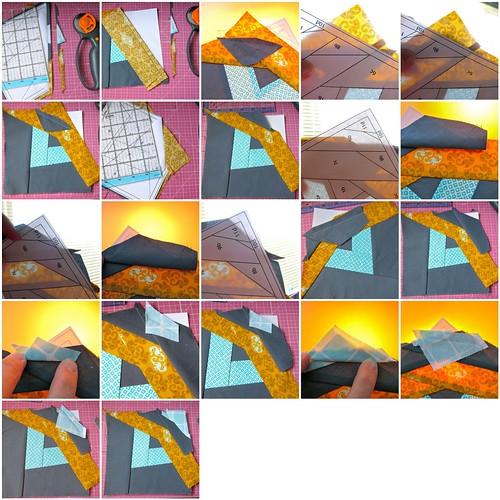 Paper Piecing Tutorial: Piecing, process mosaic 3