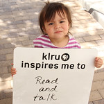 KLRU inspires me to... read and talk.