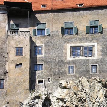 The Southern façade of Horní Hrad of the Český Krumlov State Castle, CZECH REPUBLIC