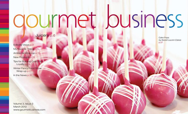Cake Pops on the Cover of Gourmet Business!