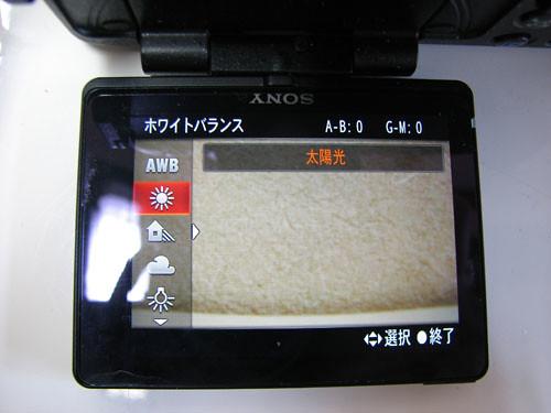 アルファ77の日本語説明画面