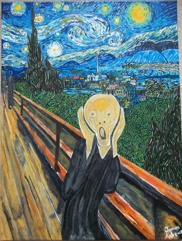 compare the scream by munch and starry night by van gogh