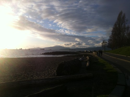 Sunset in English Bay (Vancouver, West End)