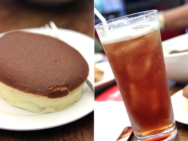 Shi Lin Cheese Cake and Passionberry Iced Tea