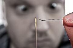 [フリー画像素材] 人物, 男性, ボディーパーツ - 顔, 針 ID:201204121200