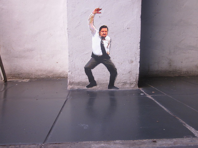 Mini Ricky Gervais street art