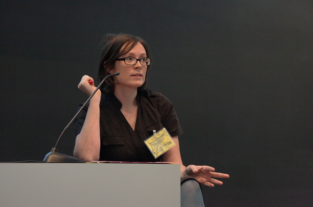 Cornell University Associate Professor Caroline O'Donnel, architecture, moderated a panel on Saturday. O'Donnell was also one of the symposium organizers.