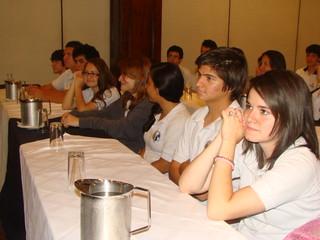 Estudiantes de colegios participaron en el lanzamiento de la Olimpiada.