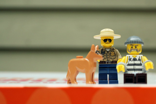 lego police catches the bad guy
