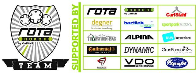 Sponsorenboard mit Gitter (grün) 2014