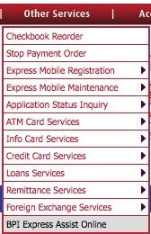 BPI Express Assist Online at bpiexpressonline