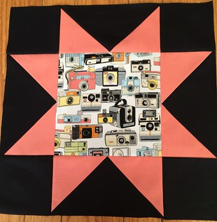 Retro Camera Sawtooth Star Pillow~ by Pam from Calif