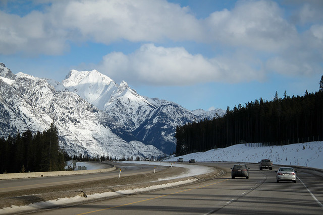 Driving to Banff