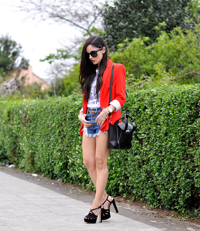 Red Zara Blazer_07