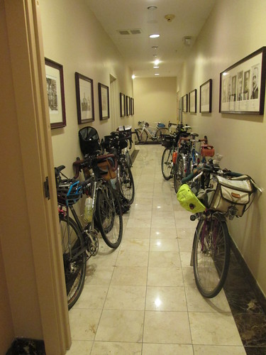 Bikes in the hall in Olympia