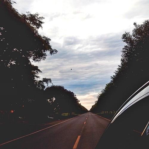 Caindo na estrada.