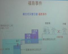 翻拍核四簡報,福島事件。來源:蔡雅瀅,台灣蠻野心足生態協會