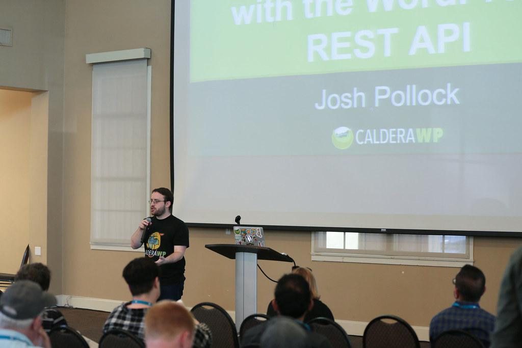 2016 WordCamp San Diego (Photo by Marc Benzakein) - Speaker Josh Pollock