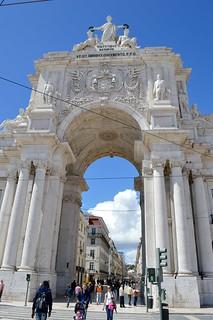 Image of Arco da Rua Augusta near Lisbon.