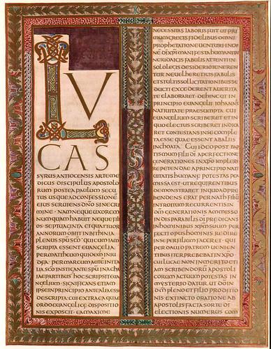 013-Prologo del evangeilio de Lucas-Evangeliar  Codex Aureus - BSB Clm 14000-© Bayerische Staatsbibliothek