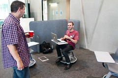 Mobile laptop chairs