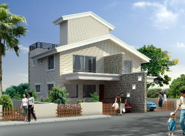 Teak County A Type 3 BHK Semidetanched Bungalow for Rs. 43 Lakhs