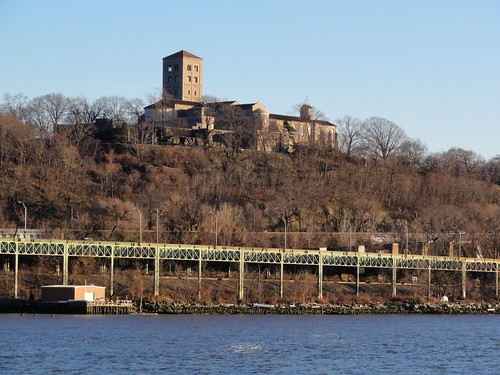 The Cloisters from the Hudson River New York