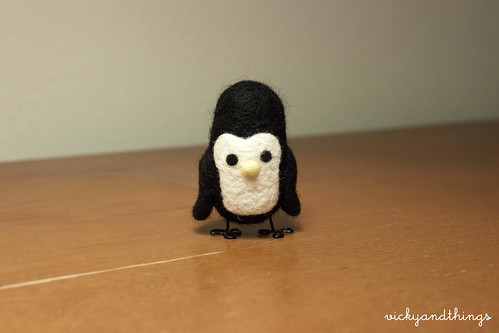 Needle felted penguin