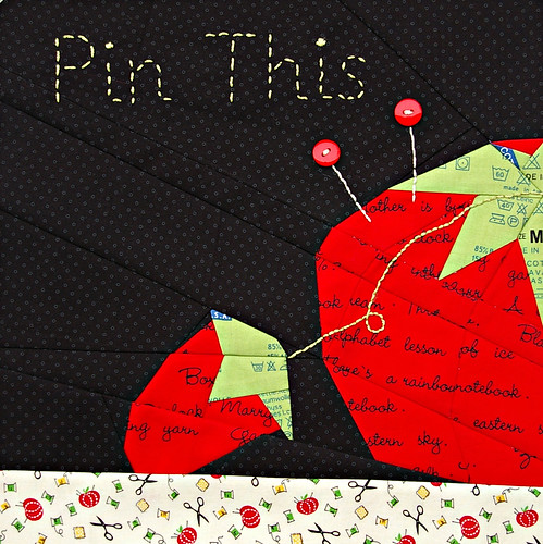 Pin This-Block 4 in the Sew Out Loud Quilt Along
