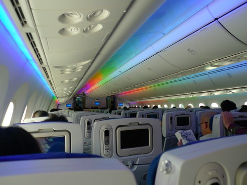Inside view of Dreamliner picture by Flickr user INABA Tomoaki