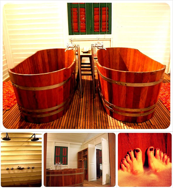 bathroom and bathrub at temple tree langkawi