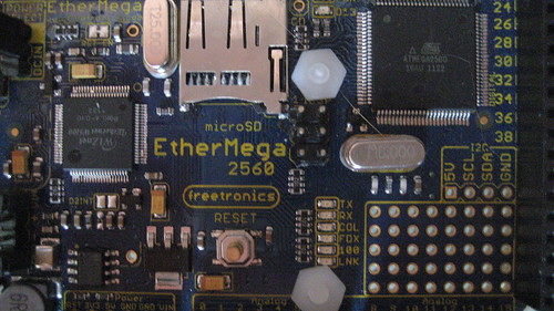 Freetronics EtherMega2560 ATmega2560 ISP Connector