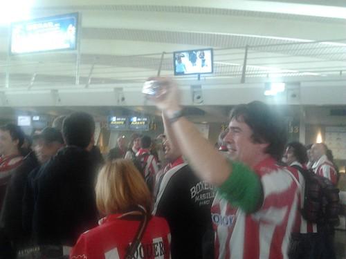 Los aficionados del Athletic, rumbo Manchester