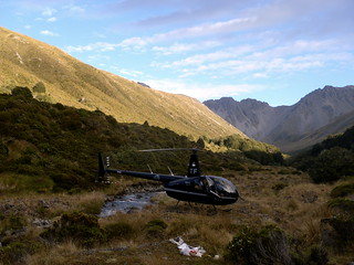 Helicopter Re-ration at Ant Stream Bivy