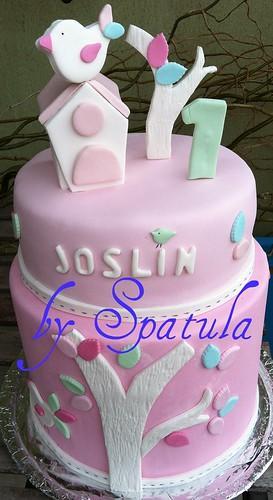 Kus Temalı Doğum Günü Pastası - Bird&Nest birthday cake by Demetin spatulasi
