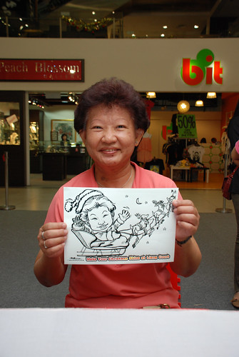 "caricature live sketching for ""Make Your Christmas Shine at Liang Court"" - 3"