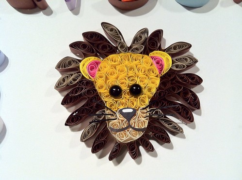 handmade lion shadowbox custom quill filigree quilling paperquilling hopesart paperfiligree hopesartcreationsetsycom