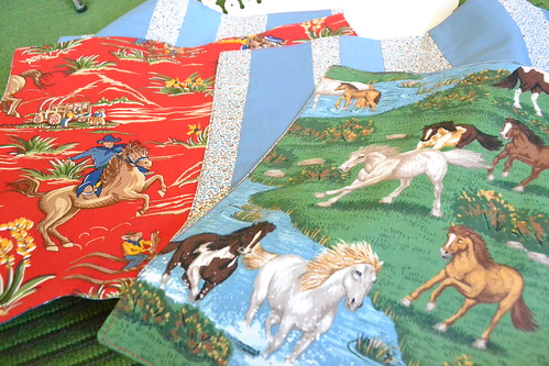 cowboys & horses cloth napkins