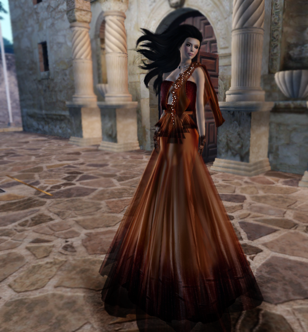 FFL 2012 - PurpleMoon Lucia Gown Orange
