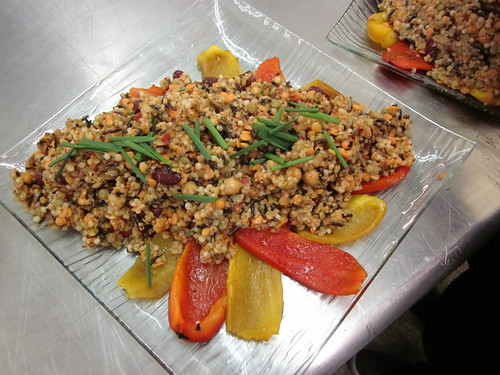 grain and bean compound salad