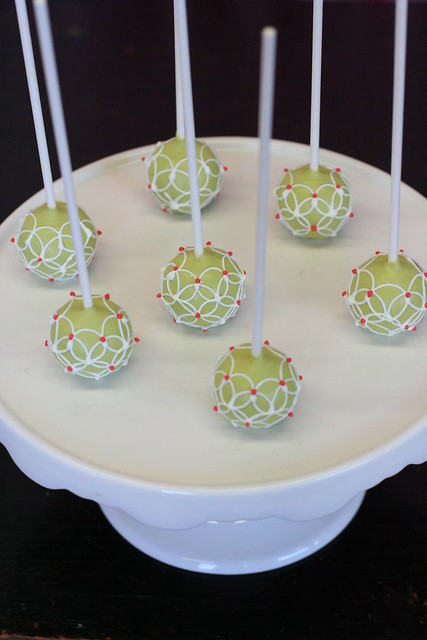Fabric Inspired Cake Pops