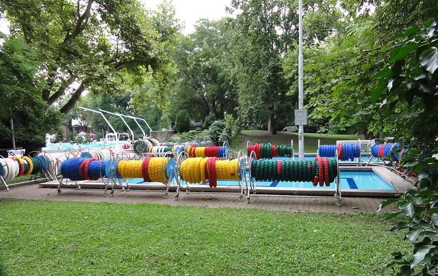 The Budapest 2010 lane rope pool