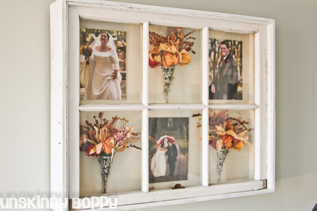 old wooden window shadowbox