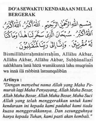doa,kendaraan bergerak, haji, umrah