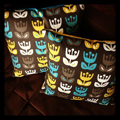 Just finished new pillows for the sofa... yay!