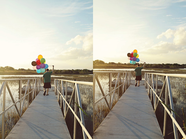 balloon shoot 18 diptych