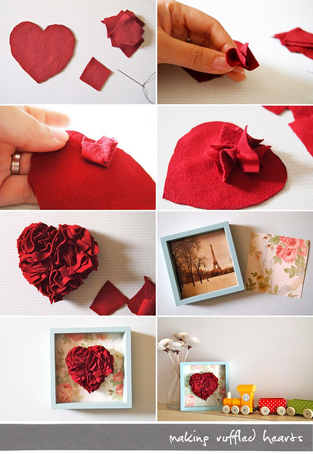 Making Ruffled Hearts -- the how to