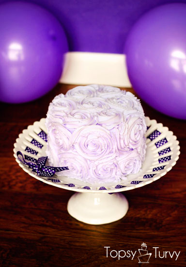 purple-rosette-smash-cake-photoshoot