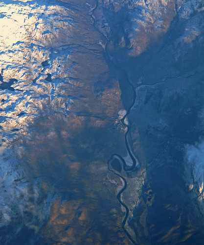 Scottish river, aerial photo