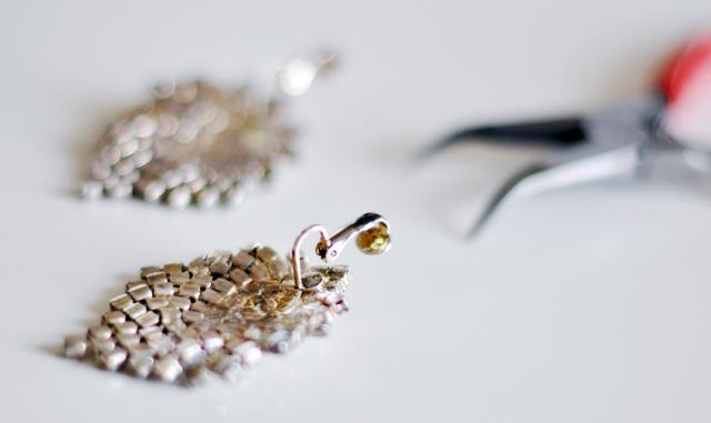 vintage rhinestone earrings DIYs
